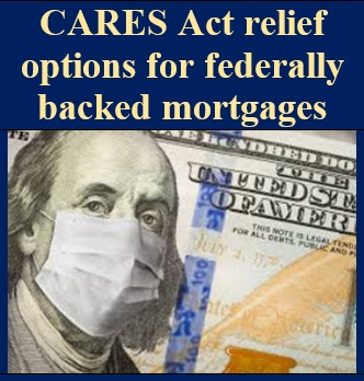 cares act relief options for federally backed mortgages