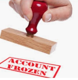 frozen bank account